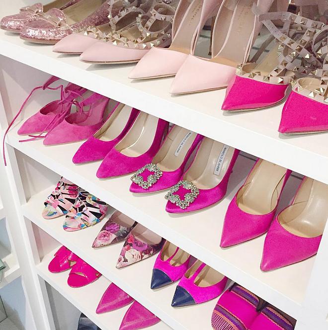 Shoe Closet Shelving. Shoe Closet Shelving Ideas. Shoe Closet Shelving #Shoes #ShoeCloset #ShoeClosetShelving Pink Peonies Rachel Parcell Shoes