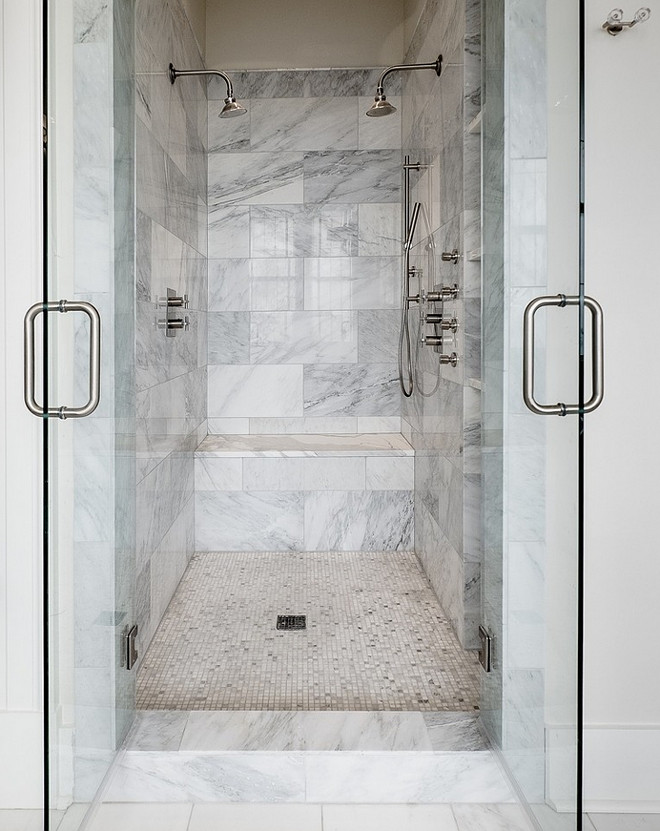 Shower Glass Doors. Shower Double Glass Doors. Shower French Glass Doors. #ShowerGlassDoor #ShowerGlassDoors #ShowerDoubleGlassDoor Allard Ward Architects.
