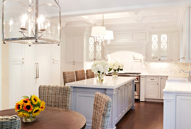 Home with inspiring coastal color palette home bunch for White kitchen gray island