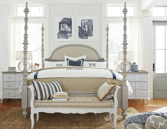 Four Poster Bed Paula Deen Home Bed. Dogwood The Dogwood Bed. This four poster bed by Paula Deen Home Bed is perfect to add a timeless, coastal feel to any bedroom. #Fourposterbed #PaulaDeenHome #Bed #DogwoodBed