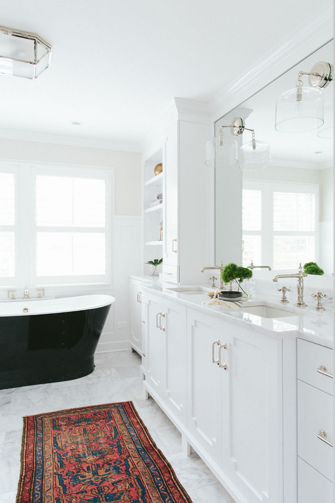 Double Sink Bathroom Vanity. Bathroom Double sink vanity. Bathroom his and hers sink vanity. Double Sink Bathroom Vanity Design. Double Sink Bathroom Vanity Ideas. Double Sink Bathroom Vanity Dimension. #DoubleSinkVanity #BathroomVanity Kate Marker Interiors.