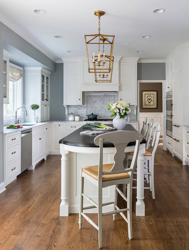 Benjamin Moore Coventry Gray Kitchen