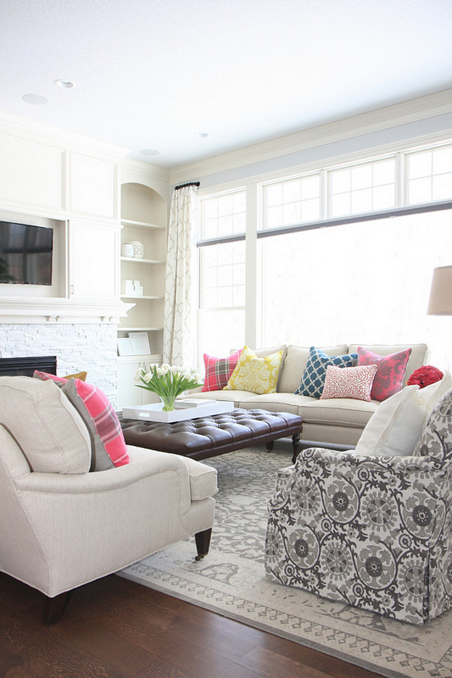 Family Room Sofas and chairs layout. Family Room Sofas and chairs furniture layout. Family Room furniture layout #FamilyRoomSofasandchairsLayout #FamilyRoomLayout #FamilyRoomFurnitureLayout Bria Hammel Interiors. Gridley + Graves Photography
