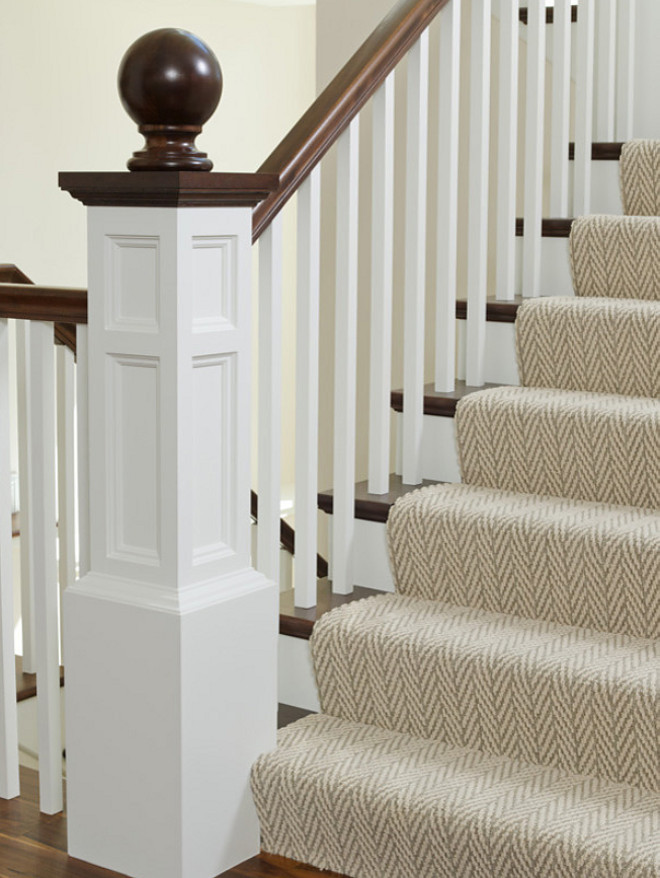 Herringbone stair runner, Herringbone stair runner photos, Herringbone stair runner ideas, Herringbone stair runner color, Herringbone stair runner manufactor, Herringbone stair runner This staircase features a classic gray herringbone stair runner #Herringbonestairrunner #Herringbonerunner #StairHerringbone