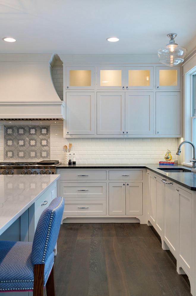 Inset Kitchen Cabinet Hardware. White kitchen Inset Kitchen Cabinet with pull and knobs hardware. Inset Kitchen Cabinet Hardware is from Emtek. #InsetKitchenCabinet #InsetCabinetHardware #InsetKitchenCabinetHardware