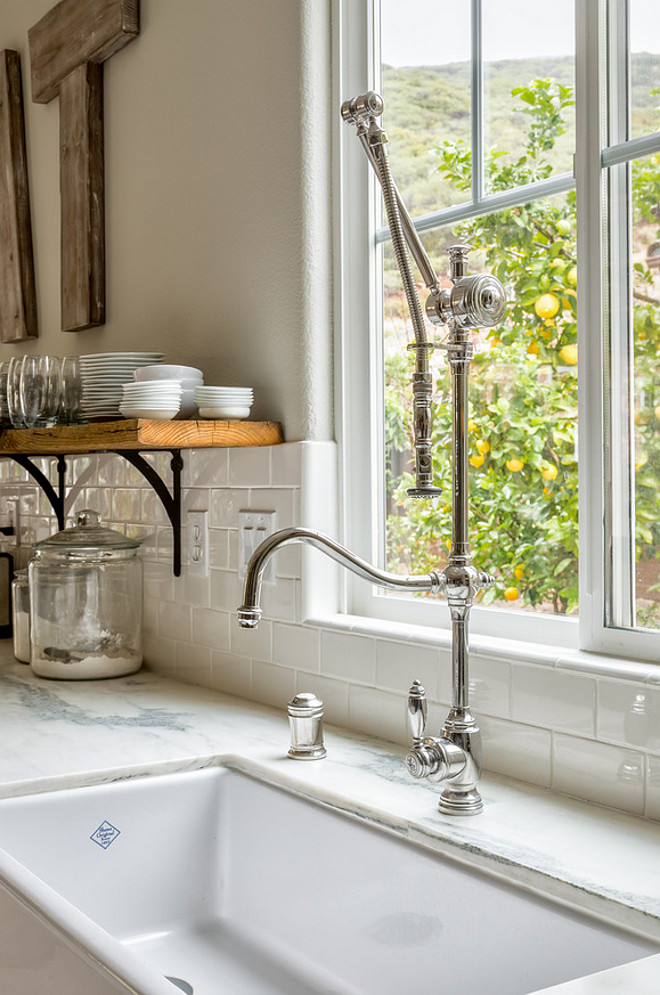 Kitchen Faucet. Kitchen Farmhouse Sink Faucet. Waterstone 4400-DAB Traditional Gantry Faucet Hook Spout in Polished Nickel #Waterstone4400DABTraditionalGantryFaucetHookSpout #KitchenFaucet #Farmhousesinkfaucet SoCal Property Portraits