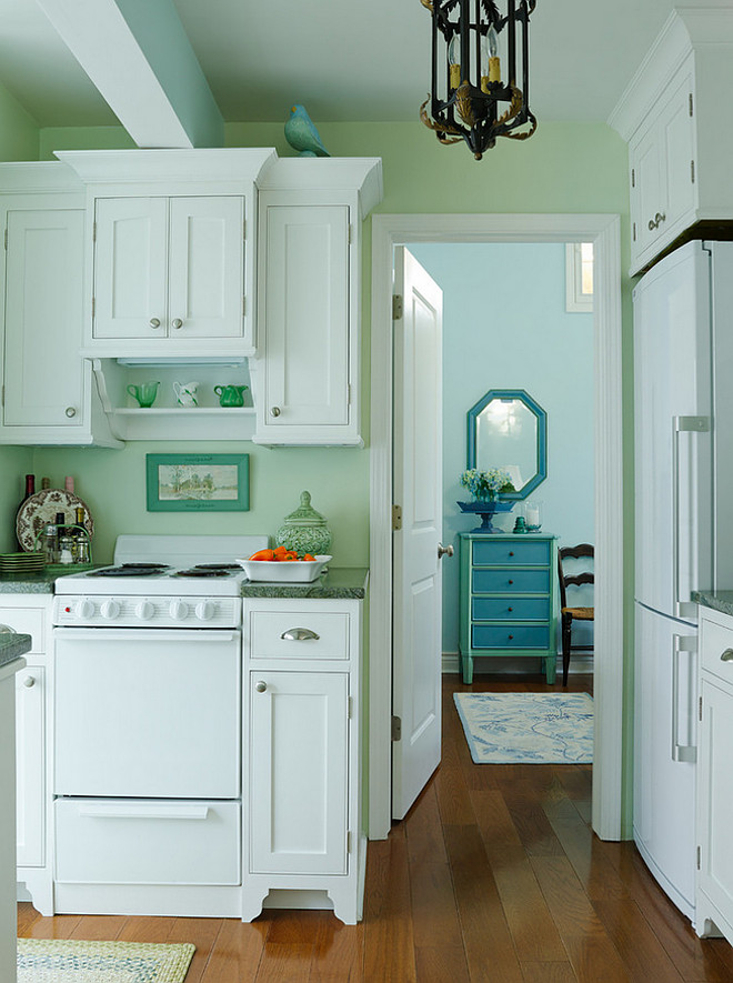 Small Lake Cottage With Turquoise Interiors