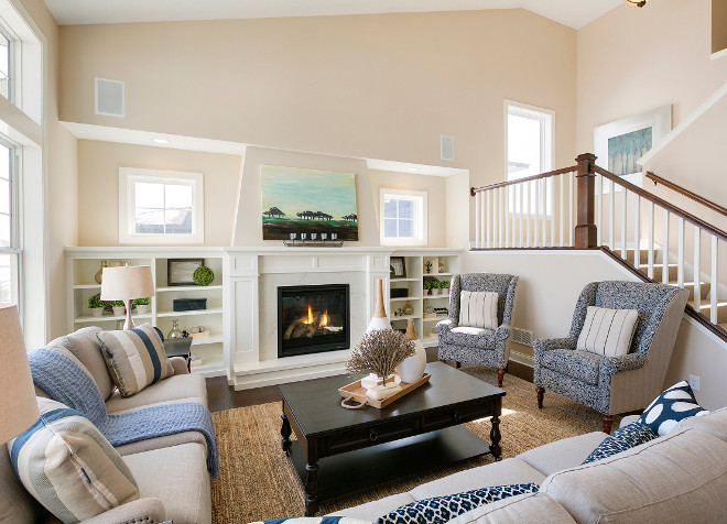 Neutral Living room paint color and decor ideas. How to decorate a neutral living room with furniture and accessories, using a neutral paint color. #NeutralPaintColor #NeutralLivingroom #PaintColor #Livingroomdecor #Livingroomaccessories #Livingroomfurniture Spacecrafting Photography.