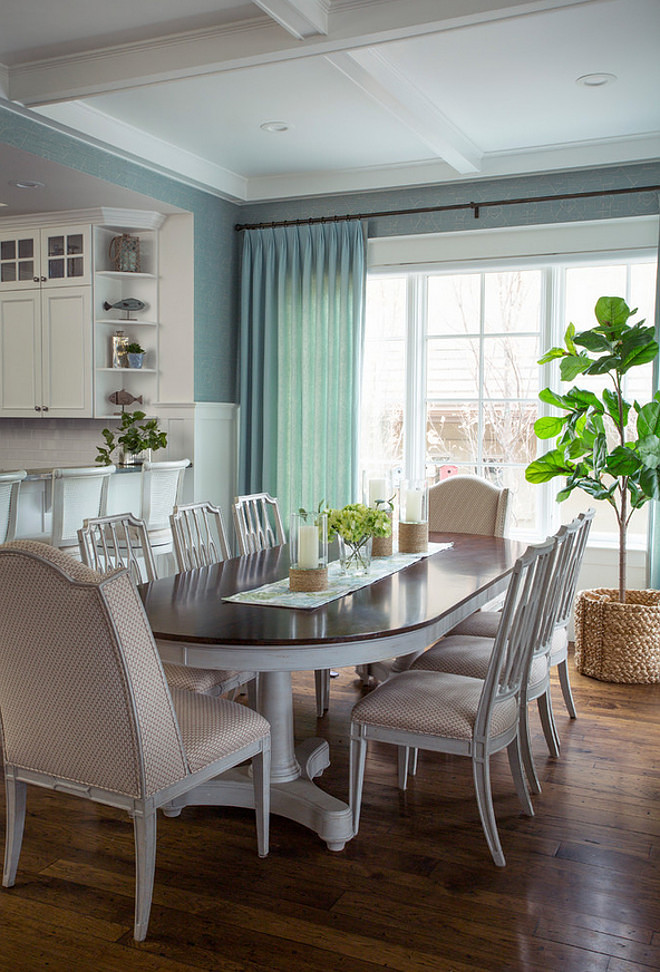 White Kitchen And Dining Room