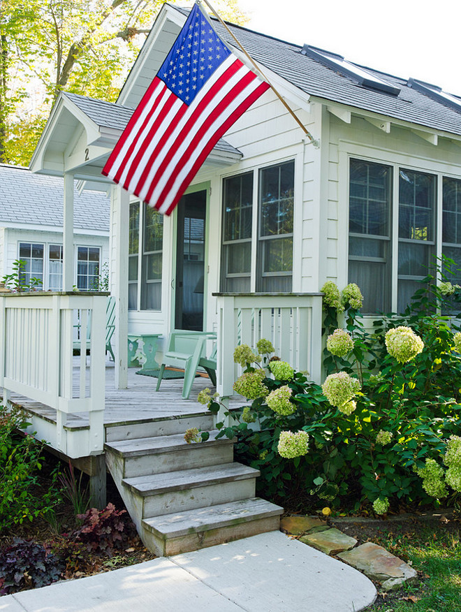 Small Cottage Exterior. Small Cottage Exterior Ideas. Small Cottage Exterior Paint Color. Small Beach Cottage Exterior #SmallCottage #SmallCottageExterior Erin O'Connor Design. Gridley + Graves Photographers