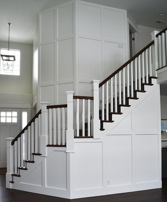 Stairway millwork. Stairway wainscoting millwork. Stairway wainscoting millwork ideas. Stairway wainscoting millwork height. Stairway wainscoting millwork dimensions. Stairway wainscoting millwork Stairway wall #Stairwaywainscoting #Stairwaymillwork #Stairwaywainscotingmilwork Sita Montgomery Interiors