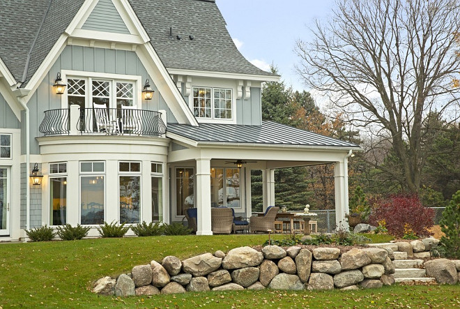 Lake House Design Ideas view in gallery lake house country japanese aesthetics 9jpg Back Porch Covered With Metal Roof Backporch Metalroof Lakehouse Roof Grayroof
