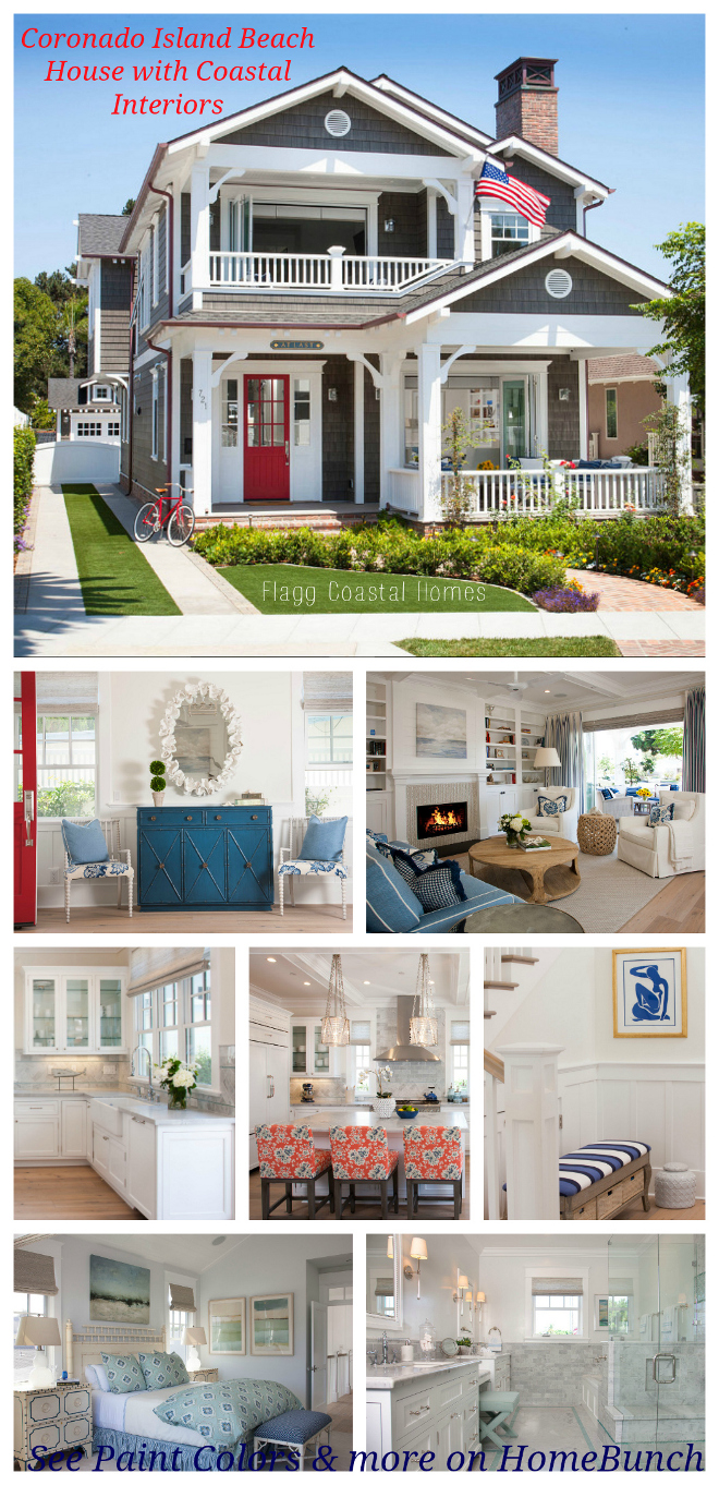Coronado Island Beach House with Coastal Interiors. Coronado Island Beach House with Coastal Interiors