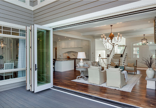 Folding Patio Glass Doors, Folding Patio Glass Doors open to patio, Folding Patio Glass Doors from living room to patio #Folding Patio Glass Door Photos and Ideas #FoldingPatioGlassDoors