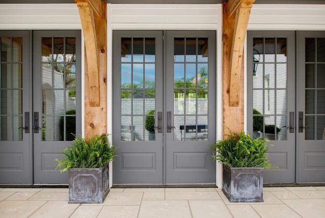 Gray French Door Paint Color Painted In Benjamin Moore S Chelsea Grayfrenchdoorpaintcolor Grayfrenchdoor