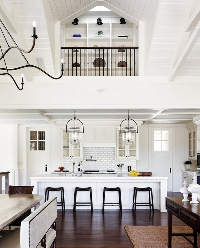 Kitchen. White kitchen with black accents. #kitchen Jennifer Robin Interiors.