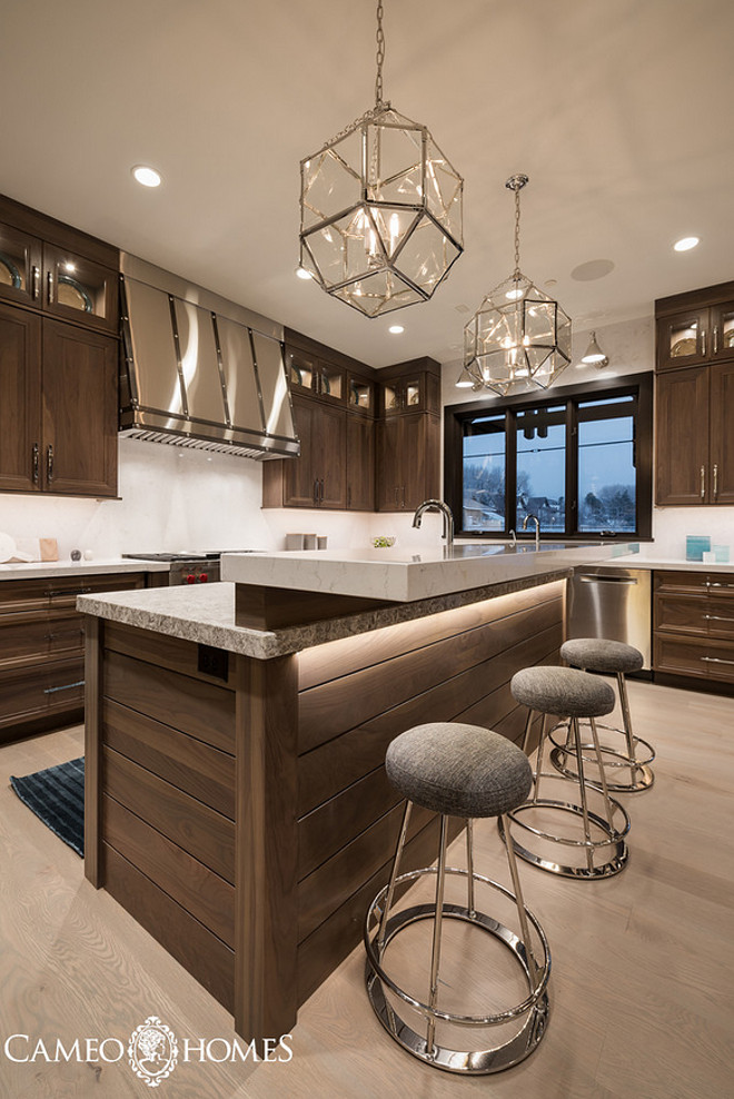 Morris Pendants. Morris Pendant Lighting. Morris Pendants. Kitchen with Morris Pendants from Circa Lighting. #MorrisPendants Cameo Homes Inc.
