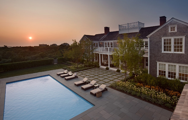 Nantucket Massachusetts Summer Home Backyard #NantucketMassachusetts #SummerHome Barbara Waltman Design