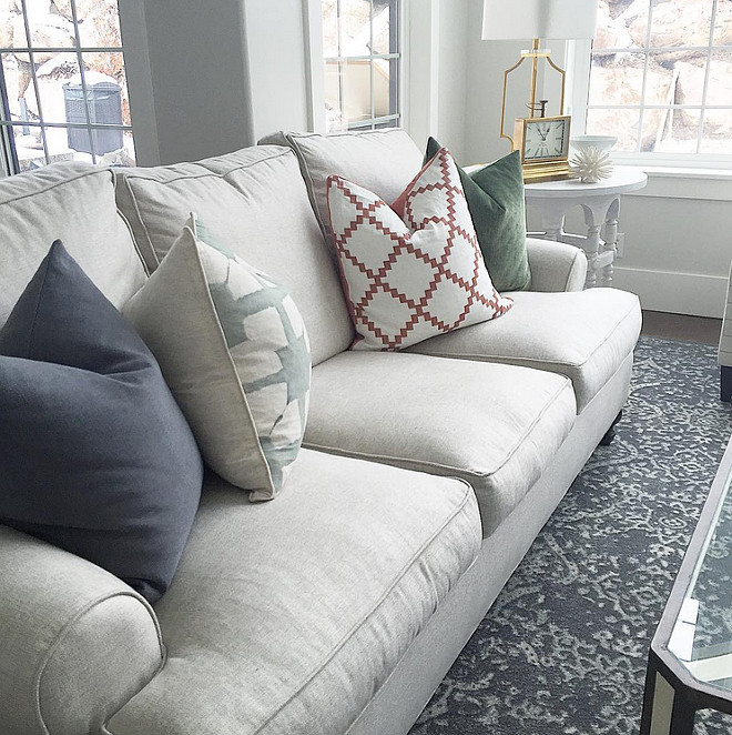 Pillow ideas for neutral sofas. Pillow ideas for neutral sofa. Pillow ideas for neutral sofa ideas. #Pillowideasforneutralsofas #pillowideas Sita Montgomery Design