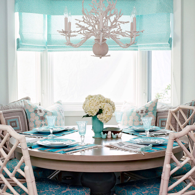 Turquoise Breakfast Nook, Turquoise Breakfast Nook, #TurquoiseBreakfastNook Waterleaf Interiors
