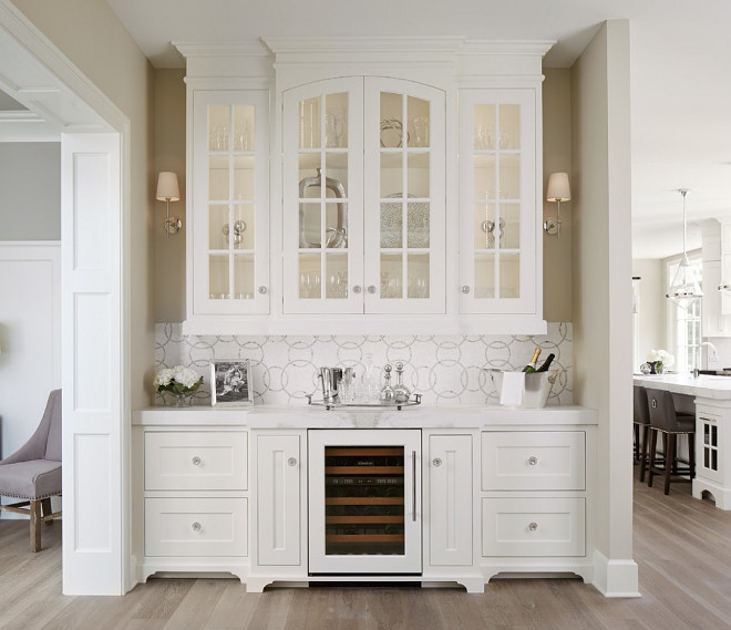 Butlers pantry cabinet design. Butlers pantry cabinet design ideas. Butlers pantry with white cabinet and sconces. Butlers pantry cabinet. #Butlerspantrycabinet #Butlerspantrycabinetdesign #Butlerspantry Summit Signature Homes, Inc