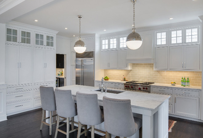 Thomas OBrien Hicks Pendants. Kitchen island features 2 Hicks Pendant by Thomas O'Brien .