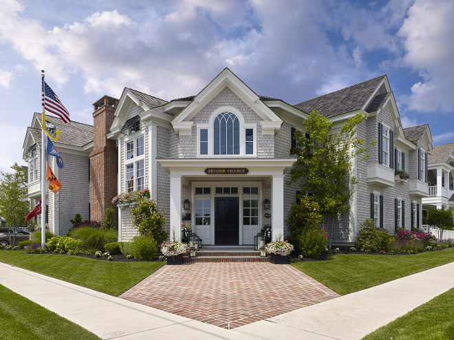 Shingle Home Exterior. Classic Shingle Home Exterior. Classic Shingle Home Exterior Ideas. Shingle Home Exterior #ShingleHome #ShingleHomeExterior #ClassicShingleHomeExterior Megan Gorelick Interiors