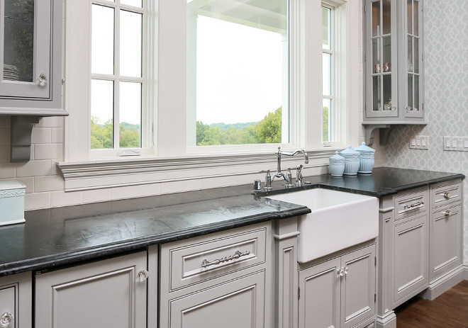 Gray Kitchen Soapstone Countertop. Gray Kitchen Soapstone Countertop. Gray Kitchen Soapstone. #GrayKitchen #GrayKitchenSoapstone #GrayKitchenSoastoneCountertop #SoastoneCountertop Artisan Signature Homes.
