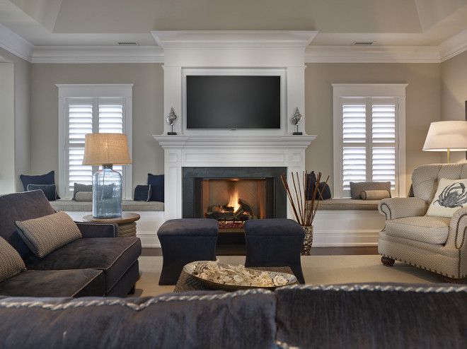 Navy Family Room. Navy and white family room. Navy and white family room decor. Navy and white family room furniture. Navy and white family room decorating ideas. Navy and white family room color scheme #Navyandwhite #familyroom #Navyandwhitefamilyroom #Navyandwhiteinteriors #Navyandwhitedecor #Navyandwhiteideas #Navyandwhitelivingroom #Navyandwhite Asher Associates Architects. Megan Gorelick Interiors