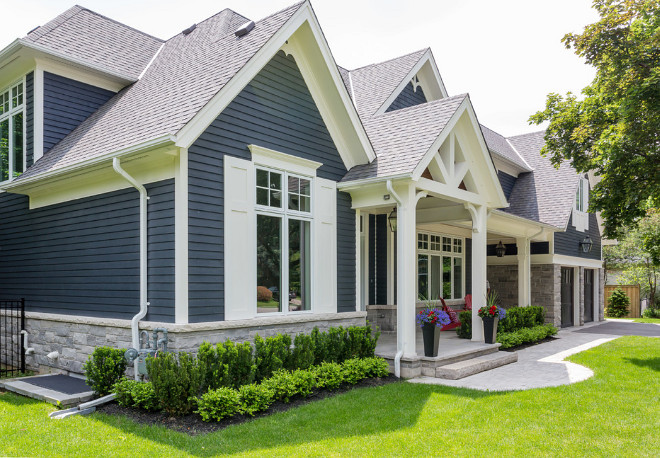 Navy home exterior with white trim. Navy Home exterior. Navy Home exterior paint color. Navy Home with white trim exterior. Navy Home with white trim exterior paint color #NavyHomeExterior #NavyHomeExteriorPaintColor #NavyHomeExteriorIdeas #NavyHomewhitetrim David Small Designs