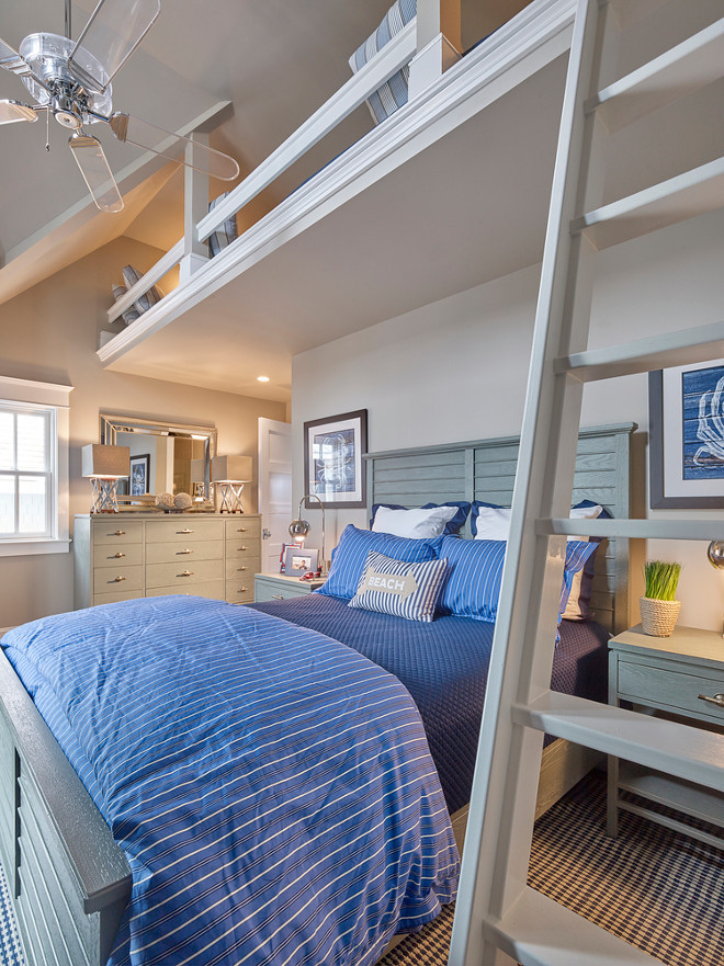 Loft Bedroom. Kids Loft Bedroom. Kids Custom Loft Bedroom. Kids Loft Bedroom Decorating Ideas. Loft Bedroom #LoftBedroom #kidsLoftBedroom #CustomLoftBedroom Asher Associates Architects. Megan Gorelick Interiors
