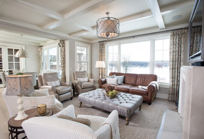 Warm Gray Paint Color Living Room