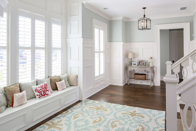Entry Hallway with raised panel wainscoting. Entry Hallway with raised panel wainscoting ideas. Entry Hallway with raised panel wainscoting height #Entryraisedpanelwainscoting #Entryraisedwainscoting #Hallwayraisedwainscoting #HallwayWainscoting #Wainscoting Artisan Signature Homes.
