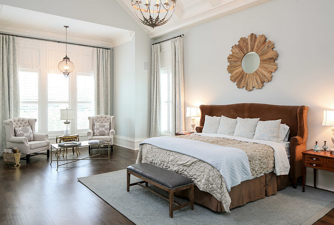 Calming Bedroom Paint Color. Relaxing, Calming Bedroom Paint Colors. Relaxing, Calming Bedroom Paint Color ideas. Calming Paint Color in this bedroom is Sherwin Williams Sea Salt. #SherwinWilliamsSeaSalt #RelaxingPaintColor #CalmingPaintColor Artisan Signature Homes.