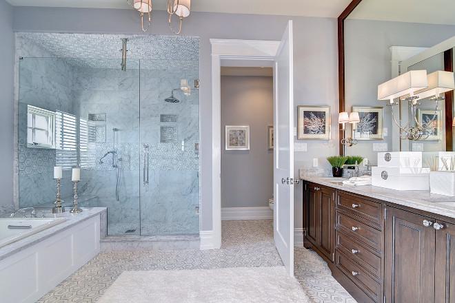 Geometric Bathroom Tiles. Bathroom Geometric Floor Tiles. #GeometricFloorTiles Megan Gorelick Interiors