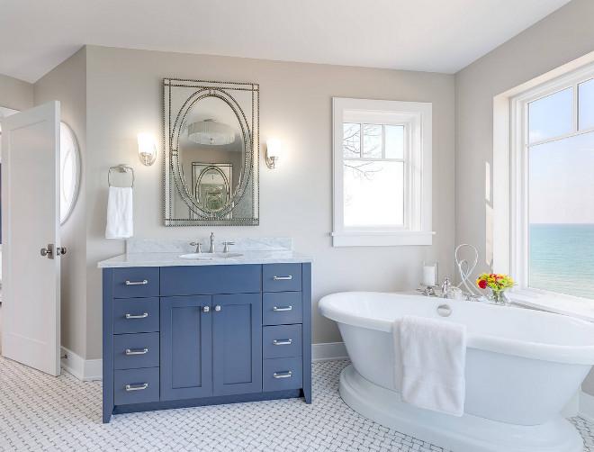 Bathroom basketweave mosaic tile floors. Classic bathroom with basketweave mosaic tile floors. basketweave mosaic tile floors #basketweavemosaictilefloors #basketweavefloors Mike Schaap Builders