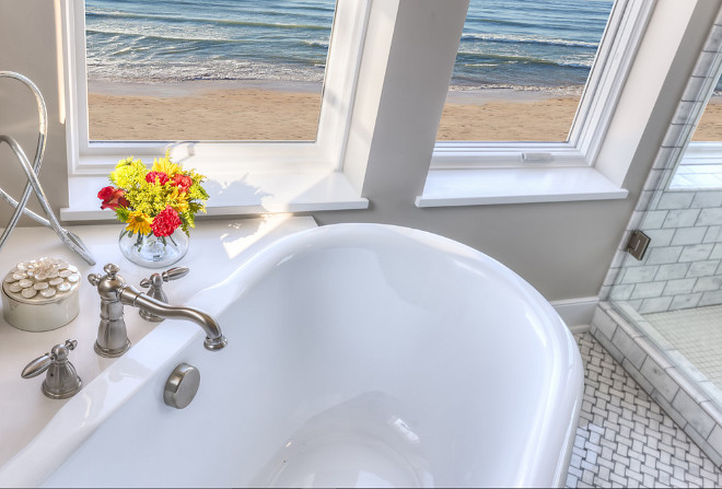 Bathtub with view. How to place a bathtub to take advantage of view. Mike Schaap Builders