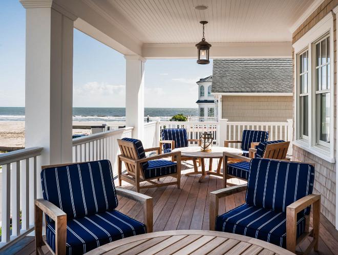 Longport Beach Cottage with Coastal Interiors - Home Bunch ... on Beach House Patio Ideas id=55462