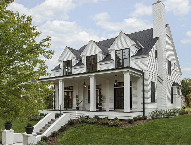 1000 images about architecture on pinterest shingle - Benjamin moore white dove exterior ...