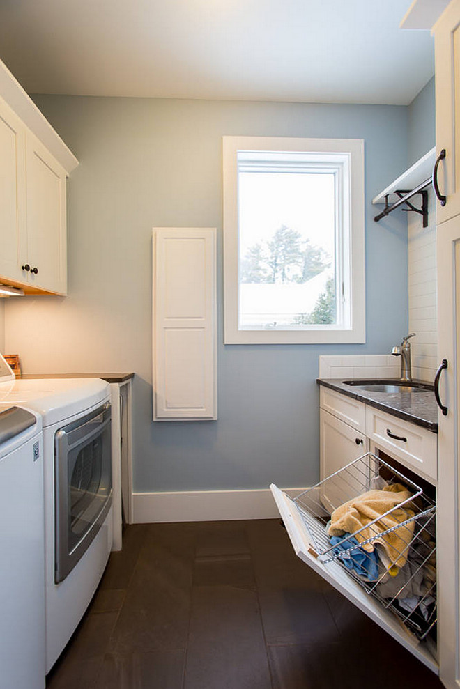 Blue laundry room paint color Valspar lighthouse shadows 4008-3B. Valspar lighthouse shadows 4008-3B. Valspar lighthouse shadows 4008-3B #Valsparlighthouseshadows BAC Design Group