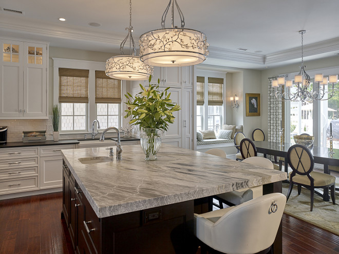 Classic kitchen. Classic kitchen with dining area. #Classickitchen Megan Gorelick Interiors