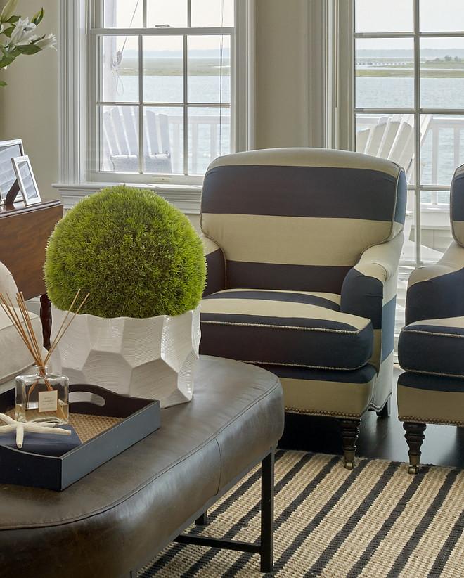 Coastal living room decorating ideas. Megan Gorelick Interiors