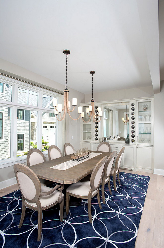 Dining Room Rug. Dining Room Rug. Dining Room Rug. Rug brings some comfort and color contrast in thie dining room. #DiningRoomRug #DiningRoom #Rug