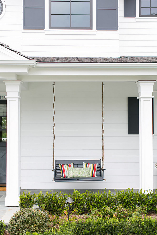 Farmhouse porch with swing. Farmhouse swing. Farmhouse porch swing #Farmhouse #porchSwing #Swing #Porch #Farmhouseporchswing #Farmhouse Legacy CDM Inc.