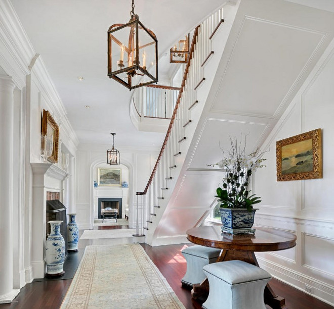 Foyer wainscoting. Foyer paneling wainscoting. Foyer paneling wainscoting ideas. Traditional Foyer paneling wainscoting #Foyer #paneling #wainscoting Christie's Real Estate