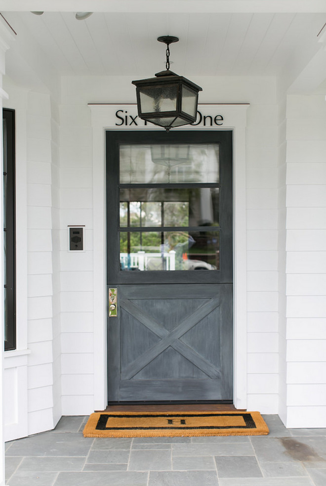 Gray Dutch Doors. Gray Dutch Door. Gray Front Dutch Door. Dutch Doors painted in Gray. #GrayDutchDoors #GrayDutchDoor #DutchDoors Legacy CDM Inc.
