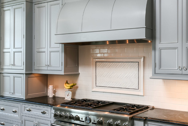Gray Kitchen Hood. Kitchen with gray hood. Gray Kitchen Hood Ideas. Gray Kitchen Hood Paint Color. Gray Kitchen Hood #GrayKitchenHood #GrayHood #GrayKitchen Artisan Signature Homes.