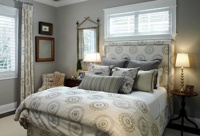 Gray bedroom. Gray bedroom bedding ideas. #Graybedroom Megan Gorelick Interiors