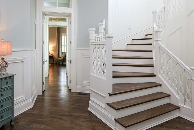 Hickory Hardwood Flooring. The floor throughout the home is Hickory Hardwood Flooring in a matte finish. #HickoryHardwoodFlooring Artisan Signature Homes.