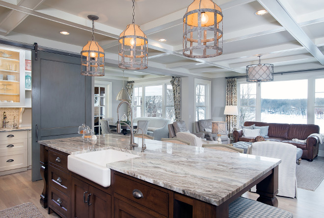 Kitchen Quartzite island. Kitchen Quartzite island ideas. Kitchen stained wood island with Quartzite countertop. #Kitchen #stainedwoodisland #Quartzite #countertop Mike Schaap Builders